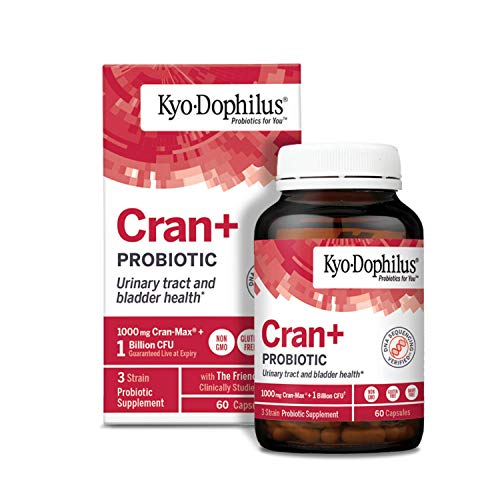 Kyo-Dophilus Probiotic Plus Cranberry Extract, 60 Capsules Soy & Gluten Free, Urinary Tract and Digestive Health Support (Packaging May Vary)