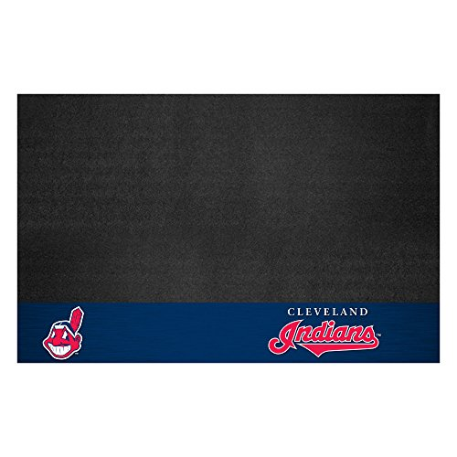 Fanmats 12151 MLB Cleveland Indians Vinyl Grill Mat (Cleveland Indians Mlb Floor Mats)