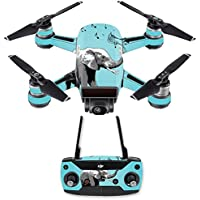 Skin for DJI Spark Mini Drone Combo - Musical Elephant| MightySkins Protective, Durable, and Unique Vinyl Decal wrap cover | Easy To Apply, Remove, and Change Styles | Made in the USA