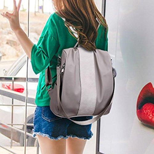 Umhängetasche Rosennie aus Beiläufig Reiserucksack Oxford Grau für Schulrucksack Mode Modische Leichtgewicht Frauen kleiner Rucksäcke Schwarz Damen Schultertasche teenager Mädchen w7qYxS5nII