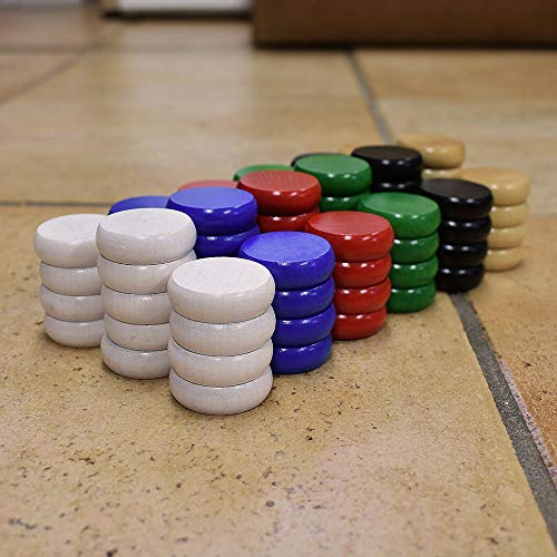 Tournament Size Crokinole Disc Party Pack (78 Discs)