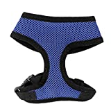 Uxcell Pet Dog Puppy Doggy Walking Mesh Design Harness, Small, Blue