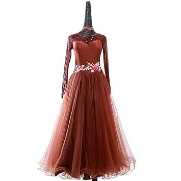 QYF Vals Vestido de Baile Falda de Baile Moderno Salón de Baile ...