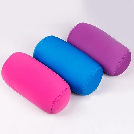 Rose NANAD Roll Pillow Microbead Beanie Oreiller Super Doux et Moelleux Coussin avec de Petites microbilles et Une Housse Extensible pour Plus de Soutien Taille Unique