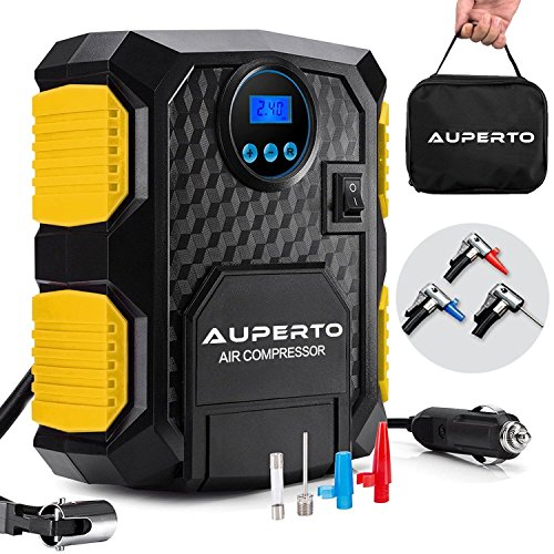 Read About AUPERTO Portable Air Compressor Pump Digital Tire Inflator,12V Auto Tire Pump with LED Li...