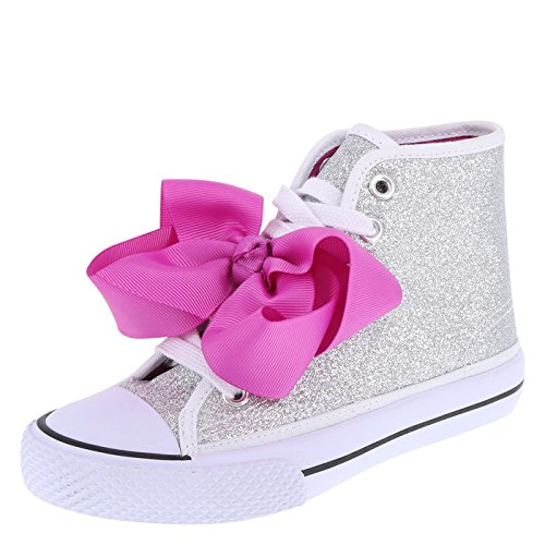 Nickelodeon Shoes Silver Girls' JoJo Legacee Sneaker High-Top 1.5 Regular -