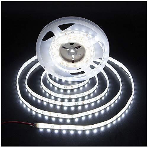 KINGLUX Led Strip IP62 Waterproof Super Bright DC12V 25W SMD3528 300LEDs IP62 Led Tape Lights Cool White 6000K 5Meter/ 16.4Feet Using for Homes, Kitchen Cabinet Lights and ceilling Lights