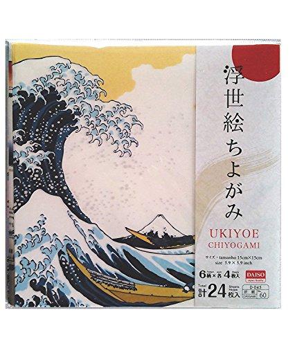Ukiyoe Chiyogami Origami Paper-folding 6 Pattern X 4 Sheets Total 24 Sheets