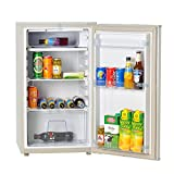 SMETA 3.2 cu.ft AC/DC Solar Powered Compact Refrigerator Mini Beverage Freezer,White