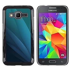 MOBMART Carcasa Funda Case Cover Armor Shell PARA Samsung Galaxy Core Prime - Ocean Colored Blades