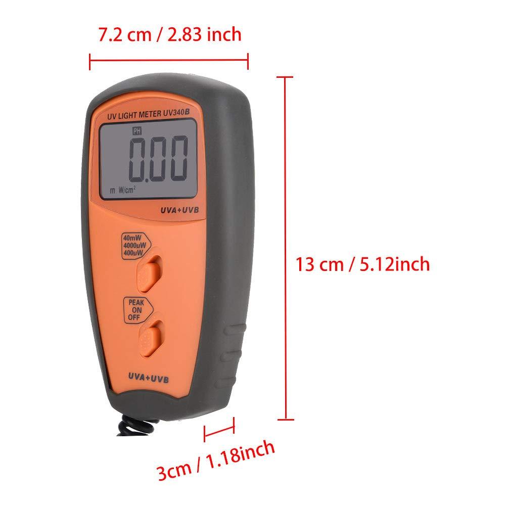 Acogedor UV Light Meter, UV340B Digital Portable Handheld UV Light Meter. UVA UVB Intensity Measure Tester by Acogedor (Image #5)