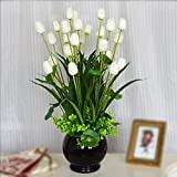SituMi Artificial Fake Flowers  Modern Minimalist Style Tulip Tv Cabinet Creative Decoration White Black Vases