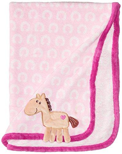 Coral Fleece Stroller Blanket (Hudson Baby Coral Fleece 3D Animal Blanket, Pink (Discontinued by)