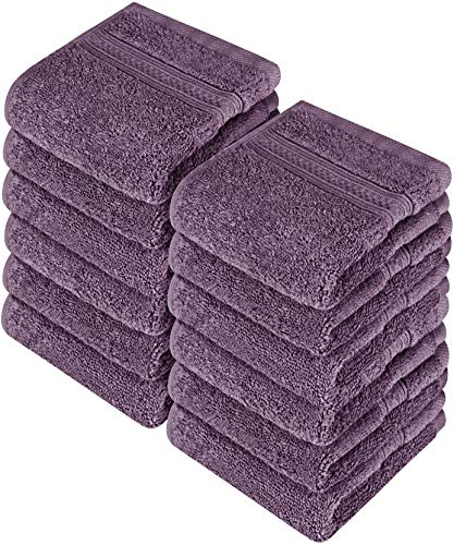 Utopia Towels Premium 252 Pack 700 GSM Cotton Washcloths Bulk– (12 x 12 Inches Face Towels Bulk) Extra Soft Wash Cloths, Plum by Utopia Towels (Image #7)