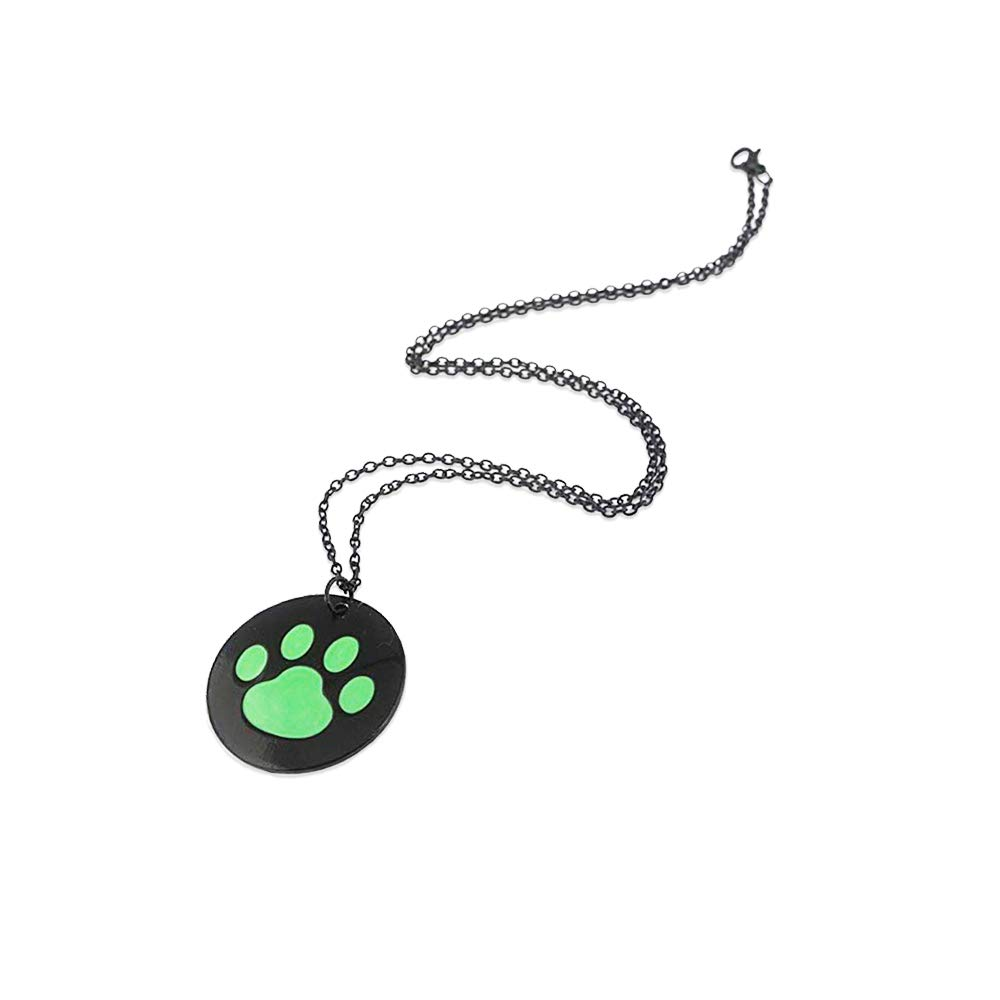 Cat Noir Neclace Costume Halloween Adult-Deluxe Zinc Alloy Black Green Cat Ring Halloween Pendant Necklace
