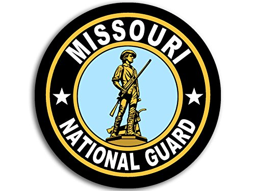 (American Vinyl Round Missouri National Guard Seal Sticker (Logo Insignia Army))