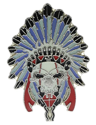 Skull With Headdress Biker Hat or Lapel Pin NovP501