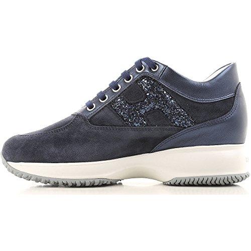 Blau Hogan HXW00N0S361IG40QA5 Leder Sneakers Damen xrBwqr