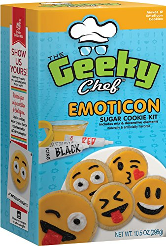 Price comparison product image Crafty Cooking Kits Geeky Chef Emoticon Sugar Cookie Kit,  10.5 Ounce