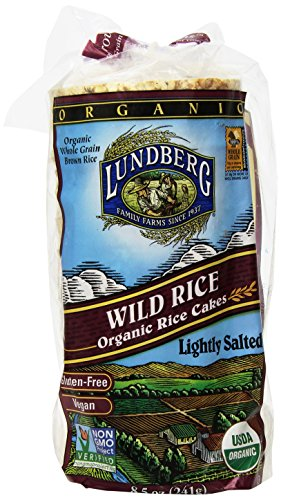Lundberg Wild Rice Organic Rice Cakes, 8.5 Ounce (Pack of 12) by Lundberg