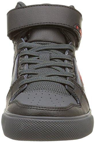 DC Shoes Spartan High Se Ev - Zapatos para bebes para bebé-niños Gris (Black/Athletic Red/B)