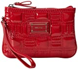 Nine West Go To Glamour Small Wristlet Wallet,Dark Red Lipstick,One Size, Bags Central