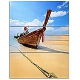 Designart PT8945-12-20 Thai Long tail Boat Beach and Shore Canvas Art Print