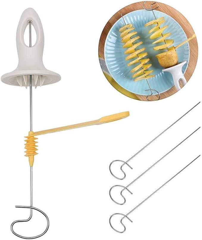 OYD Cortador en Espiral de Patatas, Pelador de Patatas en Forma de Espiral