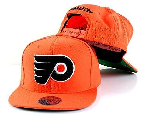 NHL Mitchell & Ness Vintage Wool Solid Snapback Hat (Adjustable, Philadelphia Flyers)