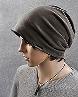【Ama-Fanshop】大きいサイズ シンプル コットン 無地 ビッグワッチ ニット帽 3色 男女兼用