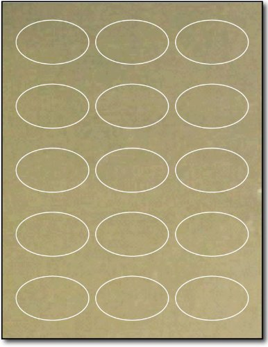 Oval Gold Foil Labels 1 7/16 x 2 3/8
