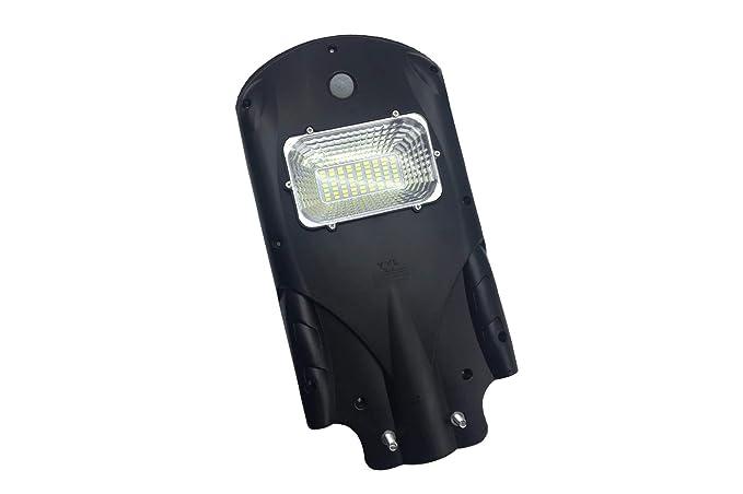 Faro led stradale 30w lampada energia solare crepuscolare per