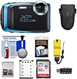 Fujifilm FinePix XP130 Shock & Waterproof Wi-Fi Digital Camera (Sky Blue) with 32GB Card + Battery + Cases + Float Strap + Ultimate Deals Cloth+ Accessory Kit