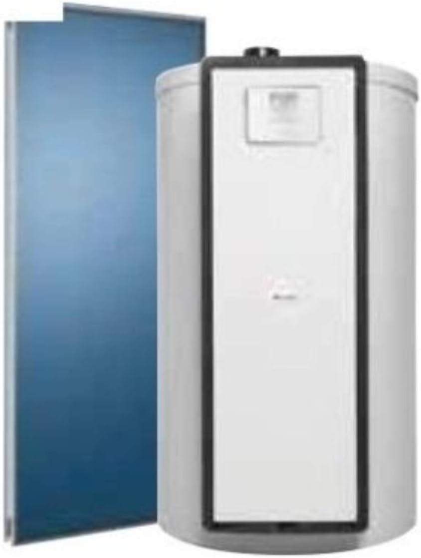Placa solar Helioset DB 150 F, drenaje automático para instalaciones individuales ACS, montaje en cubierta plana, acumulador 150 litros, 79, 6 x 60 x 106, 4 centímetros (referencia: 0010023082)