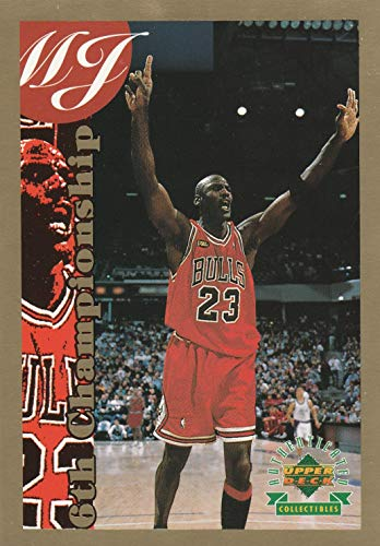 b6752226f8ce 1998 Upper Deck Michael Jordan Authenticated Collectibles Oversized trading  Card