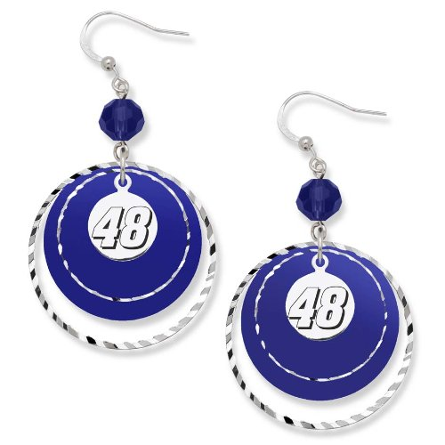 LogoArt NASCAR Jimmie Johnson #48 Game Day (Etched Brass Earrings)