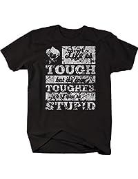 Distressed - Life is Tough Tougher if Stupid John Wayne Tshirt