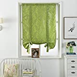 NAPEARL Jacquard Tie Up Balloon Curtain 1 Panel for Kitchen