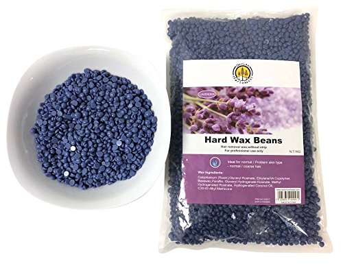 DevLon NorthWest Hard Wax Beans 2.2 Pounds Hair Removal Arm Leg Facial Women Men Self Waxing Purple Lavender