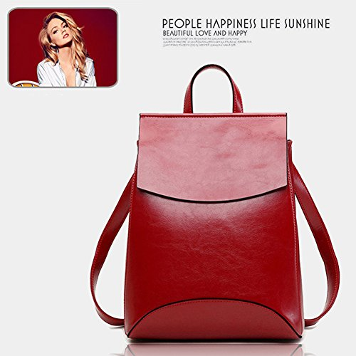 Black Soft Shoulder BookBag Yoome Bag Campus Vintage Leather Backpack for Women TqwxAv5