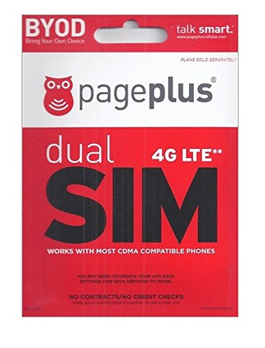 Page Plus 4G LTE Sim Use on any Verizon 4G LTE Phone Prepaid