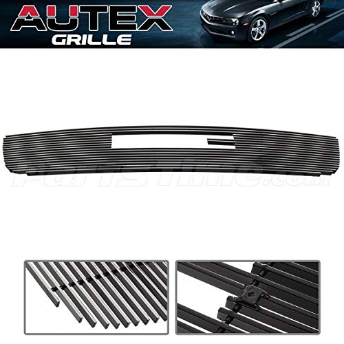 AUTEX Chrome Horizontal Billet Main Upper Grille Grill G65771A Compatible with GMC Sierra 1500/Sierra 1500 HD/Sierra 2500 HD/Sierra 3500 2003-2006,GMC Sierra 2500 2003-2004