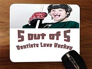 Hockey 5Out de 5Dentist prefieren Love Hockey Desktop Office silicona mouse pad by Moonlight de impresión