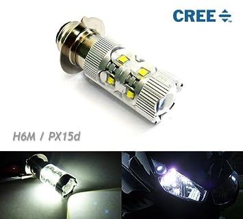 Generic LED H6 BA20D DC12-24v 28W Motorcycle Headlight bulb 3300LM white 6000k Motorbike Backup Signal Blinker Stop Brake Tail Motorbike Light Bulbs