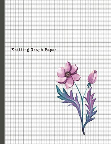 Knitting Graph Paper: 4:5 Ratio Design Blank Knitter's Journal on Your Design Knitting Charts for Creative New Patterns Composition Notebook Violet Flower Cover