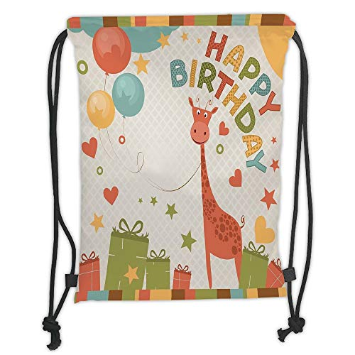 Custom Printed Drawstring Sack Backpacks Bags,Birthday Decorations for