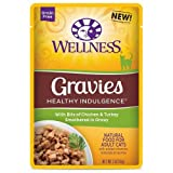 Wellness Healthy Indulgence Gravies Chicken and Turkey in Gravy Cat Food, 3 Ounce - 24 per case.