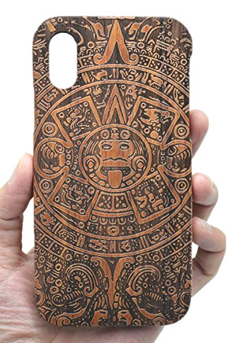 VolksRose Compatible iPhone Xs Max (6.5 inch) Wood Case - Rosewood Maya - Premium Quality Natural Wooden Case for Your Smartphone and Tablet