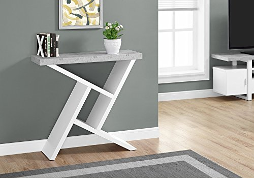 Monarch Specialties I 2405 Accent Table, White