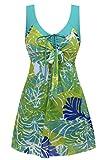 Wantdo Women's One piece Bathing Swimsuit Greenbanana XL US 8-10
